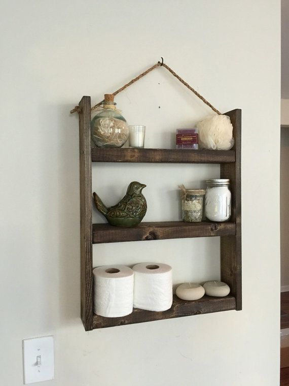 Hanging Bathroom Shelves Rope Shelf  Bathroom Shelf  Kitchen Shelf  Spice Rack  Rope