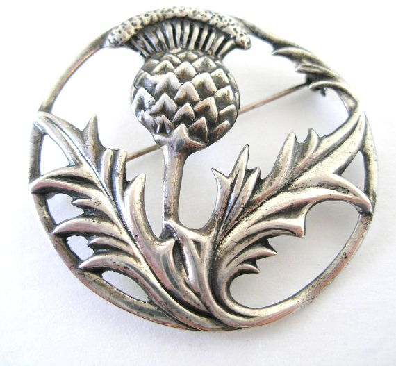 Sterling Silver  DANECRAFT SCOTTISH Thistle by AllThingsDandy