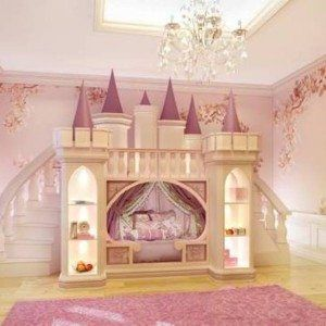 The Princess Castle Bed With Bookshelves And Stairs The Princess Castle Bedroom In Bedroom Category Cama Com Escorregador Beliche Para Crianca Camas Legais