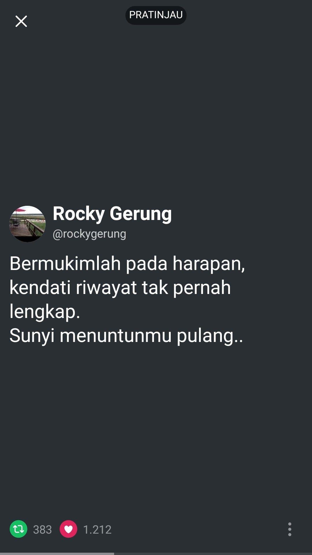 Rocky Gerung Dengan Gambar Kutipan Motivasi