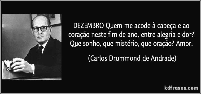 Dezembro - Carlos Drummond de Andrade