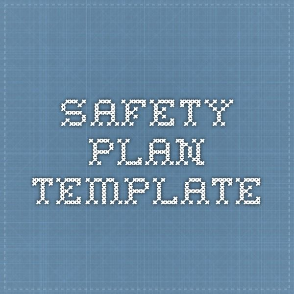 Safety Plan Template Self Injury Self Harm Pinterest Safety
