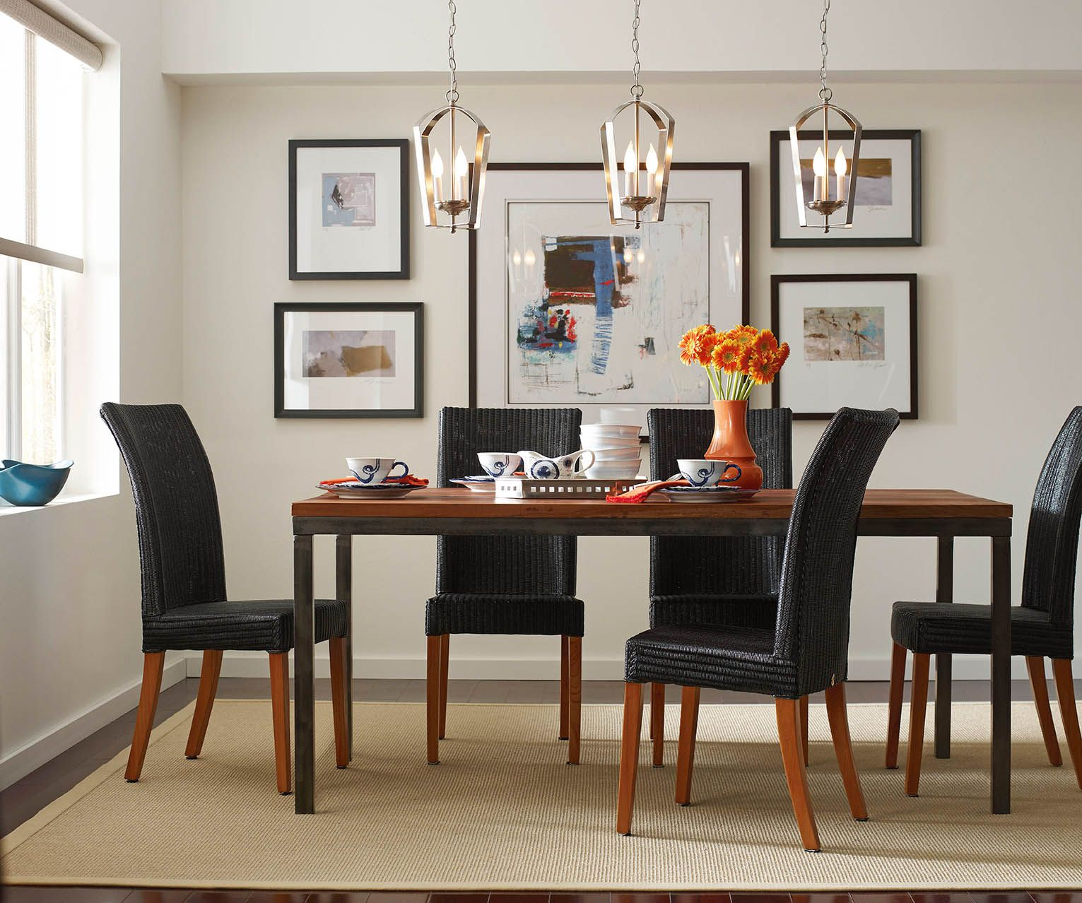 Image Result For 3 Drum Pendant Over Dining Table Modern Dining