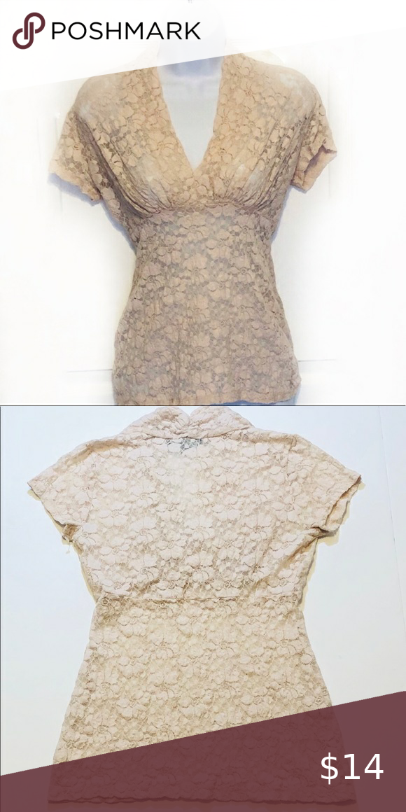 Karen Kane Rose Water Lace Top Size Small