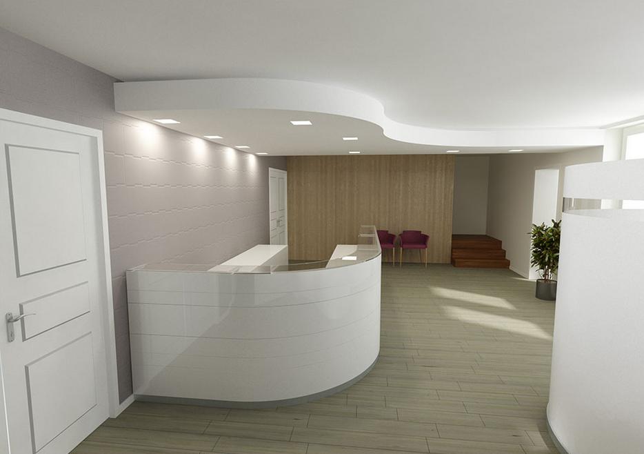 Perspectives 3d intérieures dun bureau parisien pour validation d