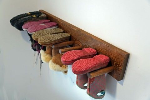 Wall Boot Rack Plans Do It Yourself Pinterest Walls, Storage