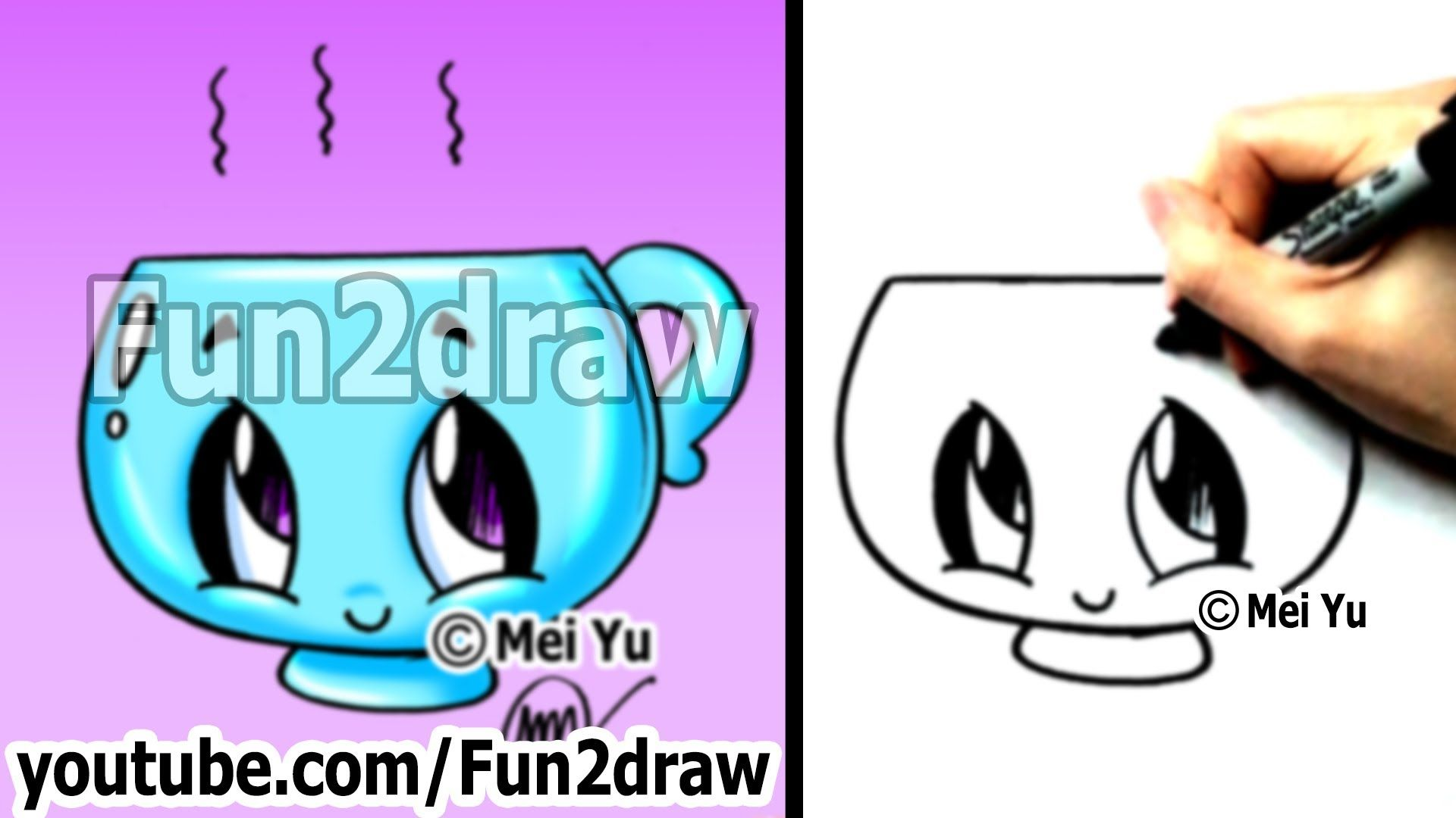 Kawaii easy cute things to draw for beginners cup i for Thing to draw