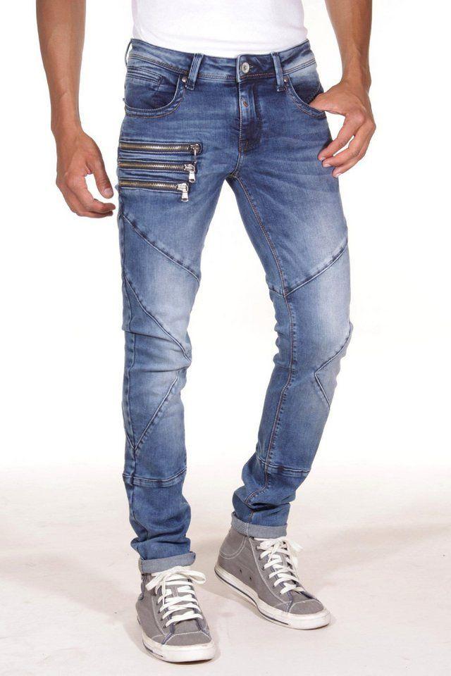 0c922b4c988f4 Bright Jeans Jeans skinny fit für 89,90€. Jeans von BRIGHT,  Five-Pocket-Design, Skinny Fit, Used-Waschung, Falteneffekte,  Destroyed-Details bei OTTO