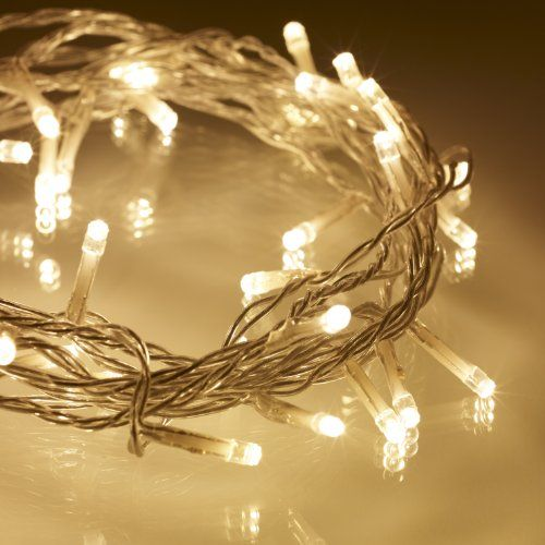 indoor fairy lights with 40 warm white leds on clear cable by lights4fun lights4fun http