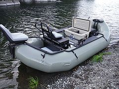 Custom whitewater fishing rafts and fishing catarafts along