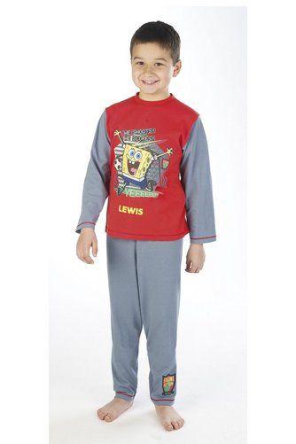 image for personalised spongebob pyjamas from studio pyjamas