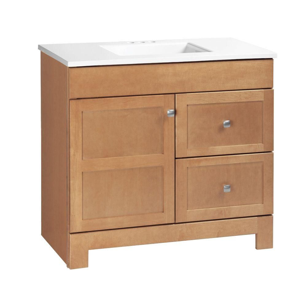 Glacier Bay Artisan In W X In D Vanity In Java With - 36 x 19 bathroom vanity for bathroom decor ideas