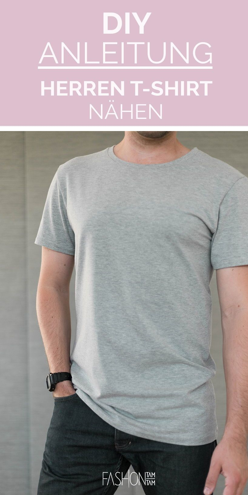 Schnittmuster T-Shirt #menswag für Herren Download
