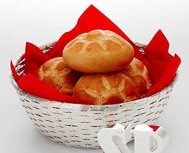 Brotkorb – Obstkorb versilbert Morgenstund hat Gold im Mund  Heißer Kaffee od…  – Produkte aus unserem Online Shop