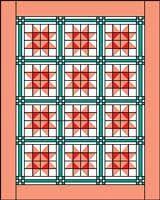 Star Flower Quilt Grid