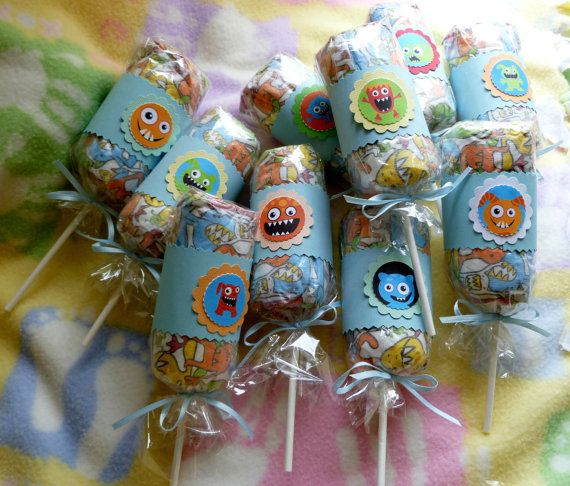 Monster Diaper Lollipop Bundle of 10..Baby by mollbelldesigns, $14.40