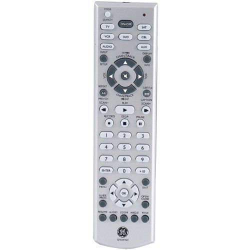 Ge 24978 7 Device Dvd Slimline Remote Control Silver By Ge 15 26 7 Device Universal Remote Control Electronic Accessories Universal Remote Control Remote