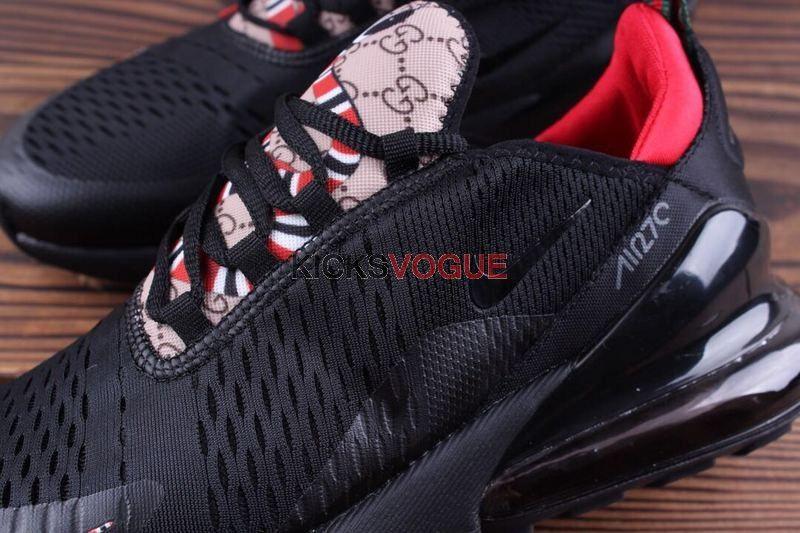 Custom Nike Air Max 270 Gucci Snake GG Black Red  706de4166