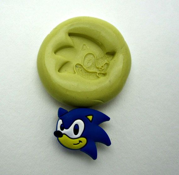 Sonic the Hedgehog Flexible Silicone Mold/Food by Francesca4me