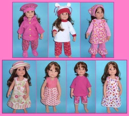 Schnittmuster Puppenkleidung Gr. 50cm Stehpuppen von doll-design ...