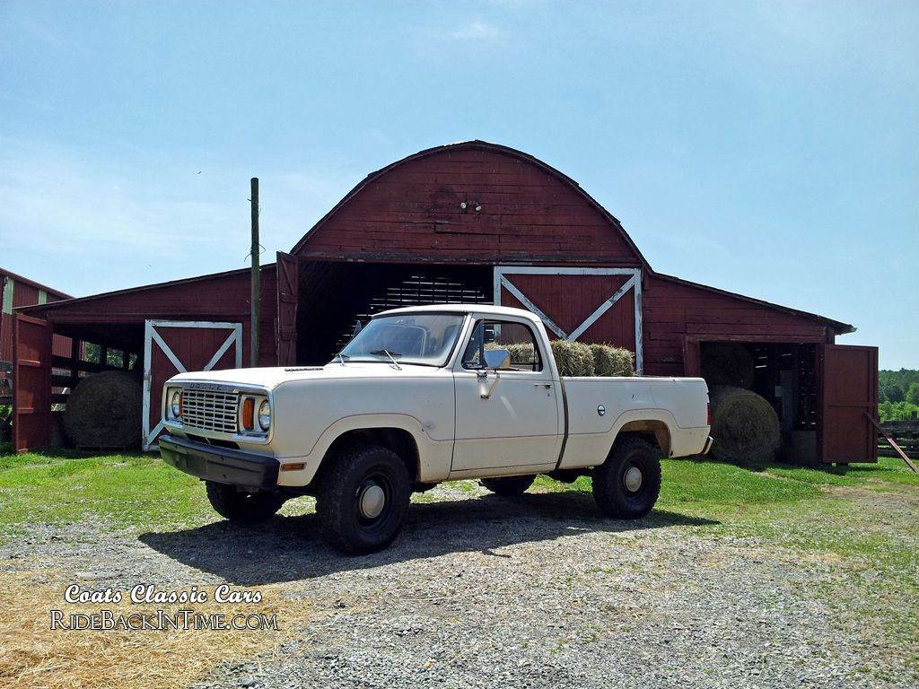 Dodge Power Wagon Pickup with hay bales, available for weddings ...
