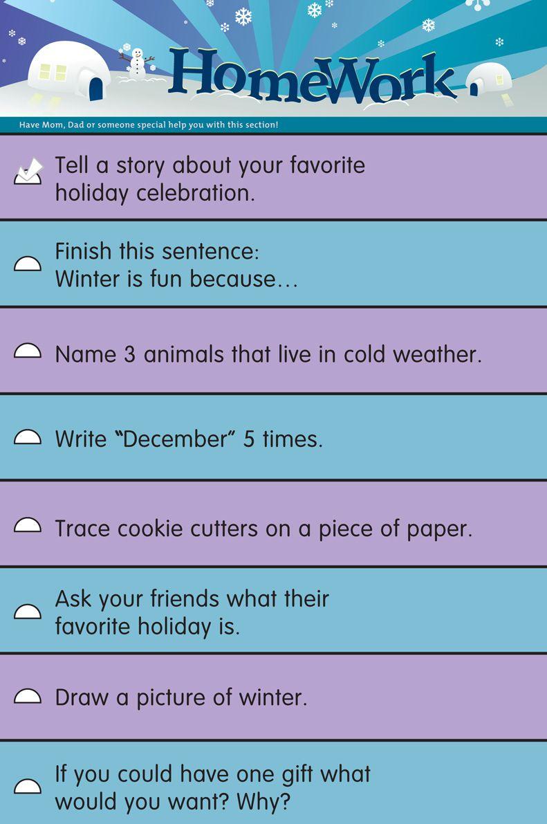 homework of the week from School Datebooks | Back to School ...
