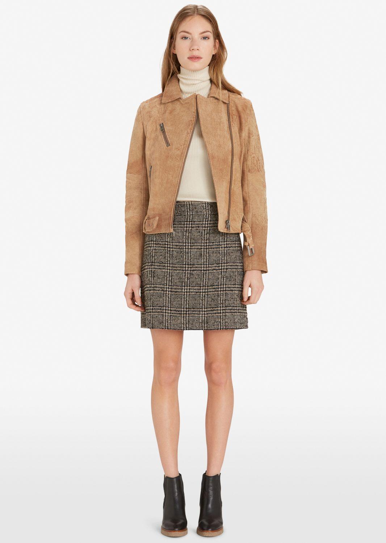 Lederen jack  Description: Lederen jas van echt lamsleder. Vintage look. Biker stijl. Strak. Zachte grip.  Price: 319.90  Meer informatie  #Marc OPolo