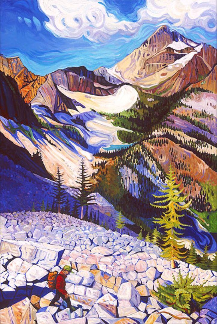 """Sean McCabe painting """"Heather Pass"""" www.seanmccabestudio.com"""