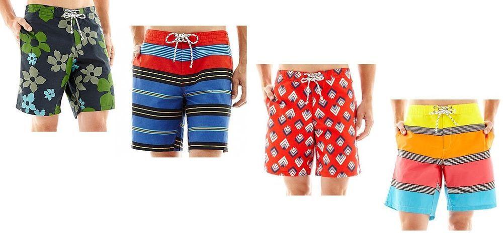Mens Designer Pierre Cardin Summer Stripe Swim Shorts Swimwear Size S M L XL XXL