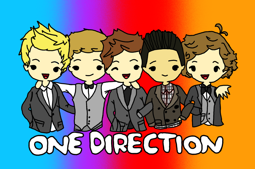 one direction as cartoons one direction cartoon coloured by gilly bird on deviantart