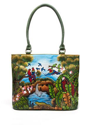 BIACCI Rain Forest Large Zip Top Tote Bag