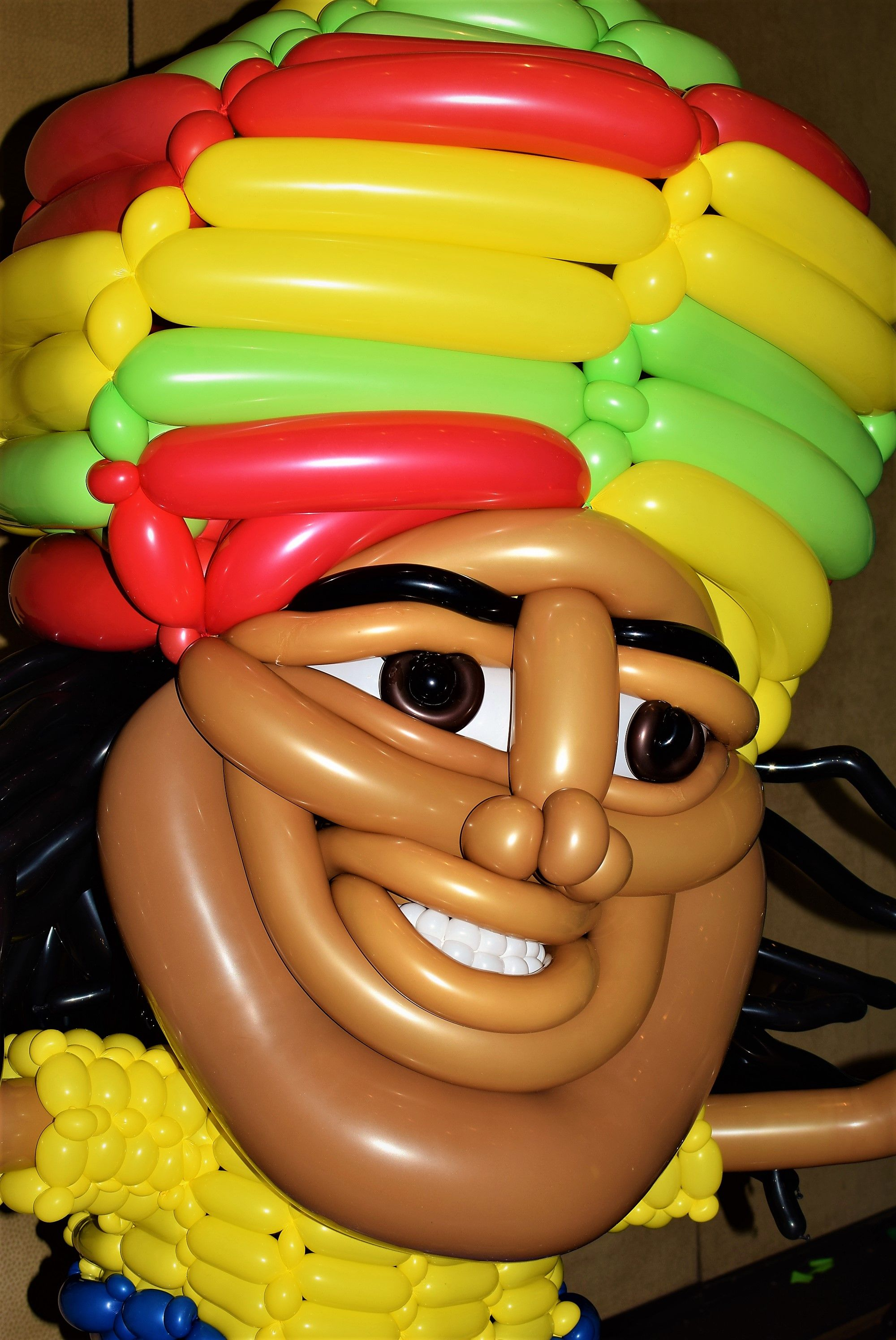 Rasta Man Large Balloon Sculpture By Las Vegas Twister Jeremy Johnston Of Atomic Company