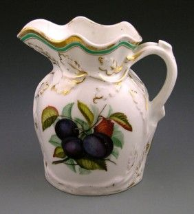 Old Paris Porcelain Pitcher, 19th C., The Sides Wi