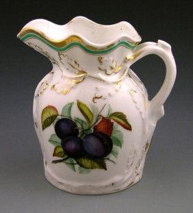 Old Paris Porcelain Pitcher, 19th C., The Sides Wi