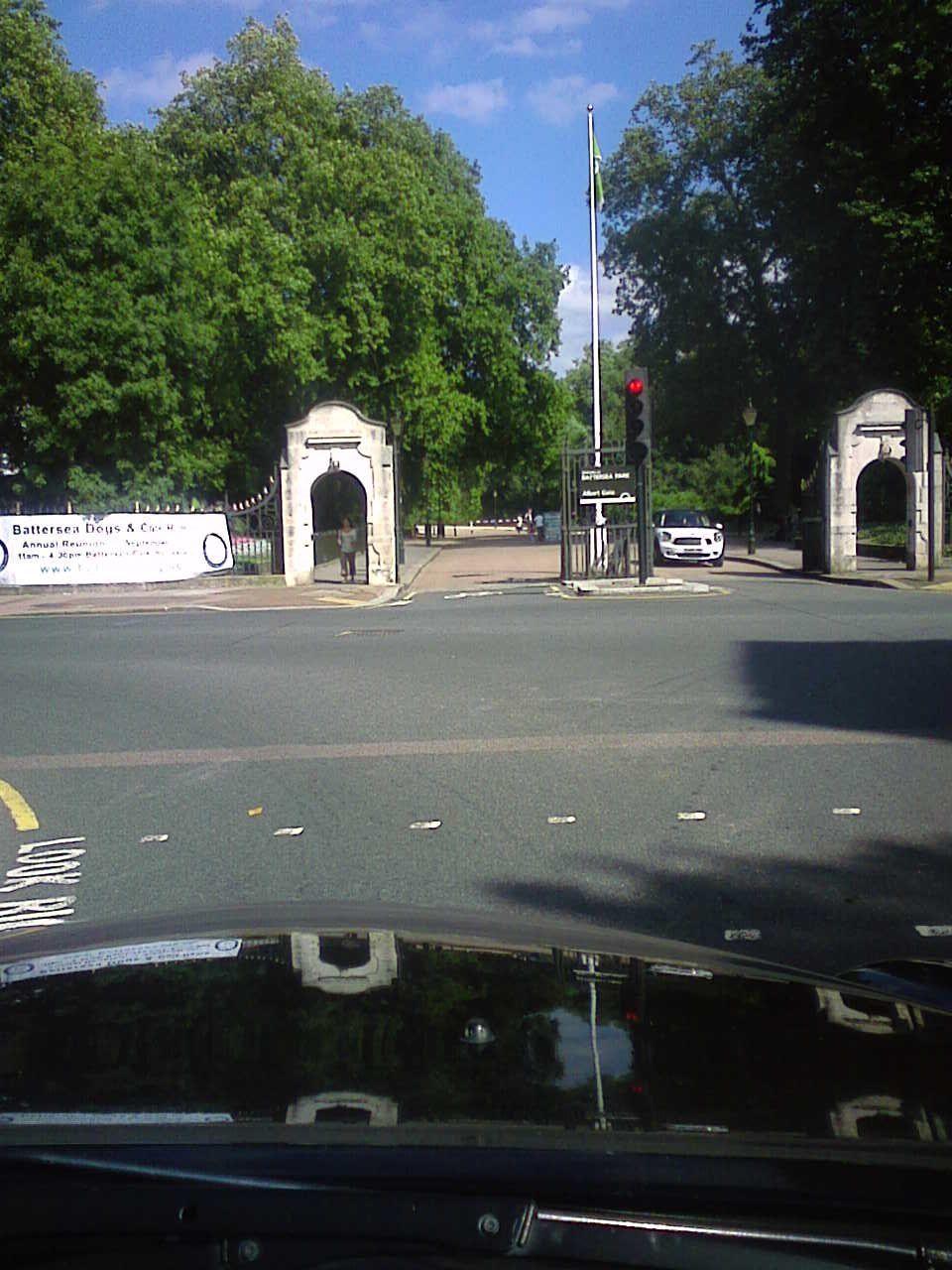 Battersea Park, Albert Bridge Road side.