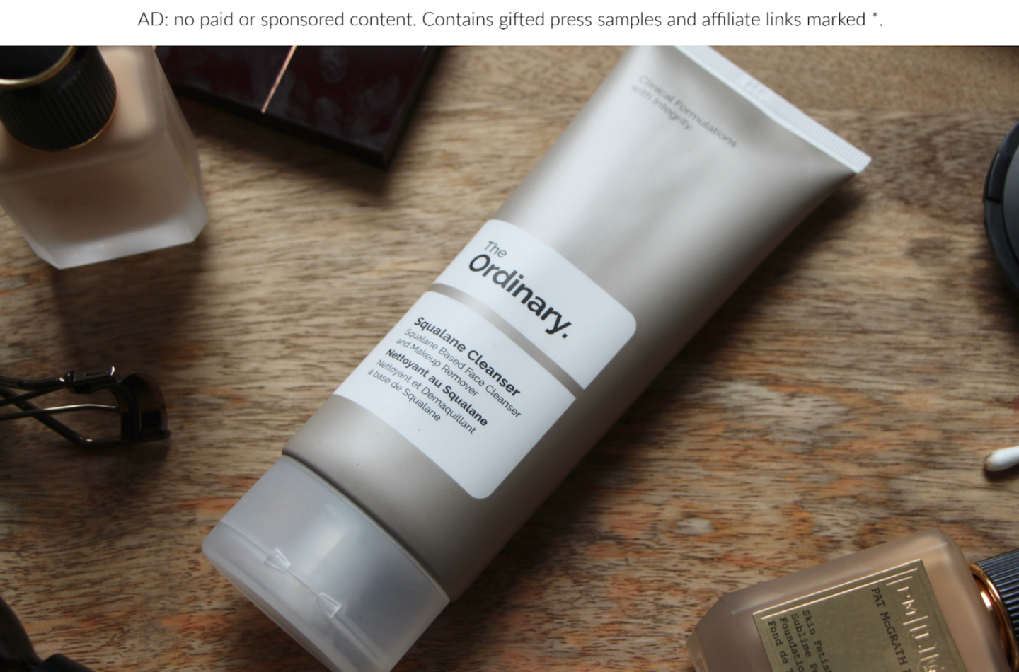 Skincare Review The Ordinary Squalane Cleanser The
