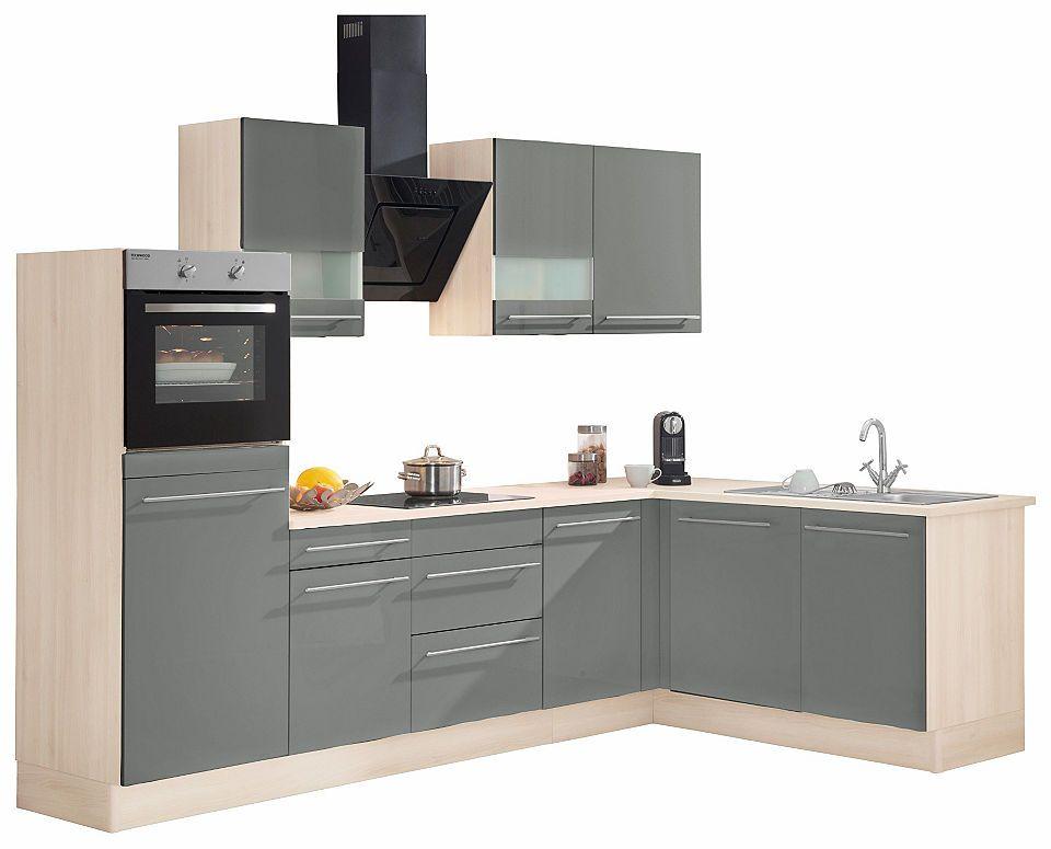 Optifit Winkelküche mit E-Geräten »Bern«, Stellbreite 285 x 175 cm - küchenzeile 240 cm mit geräten