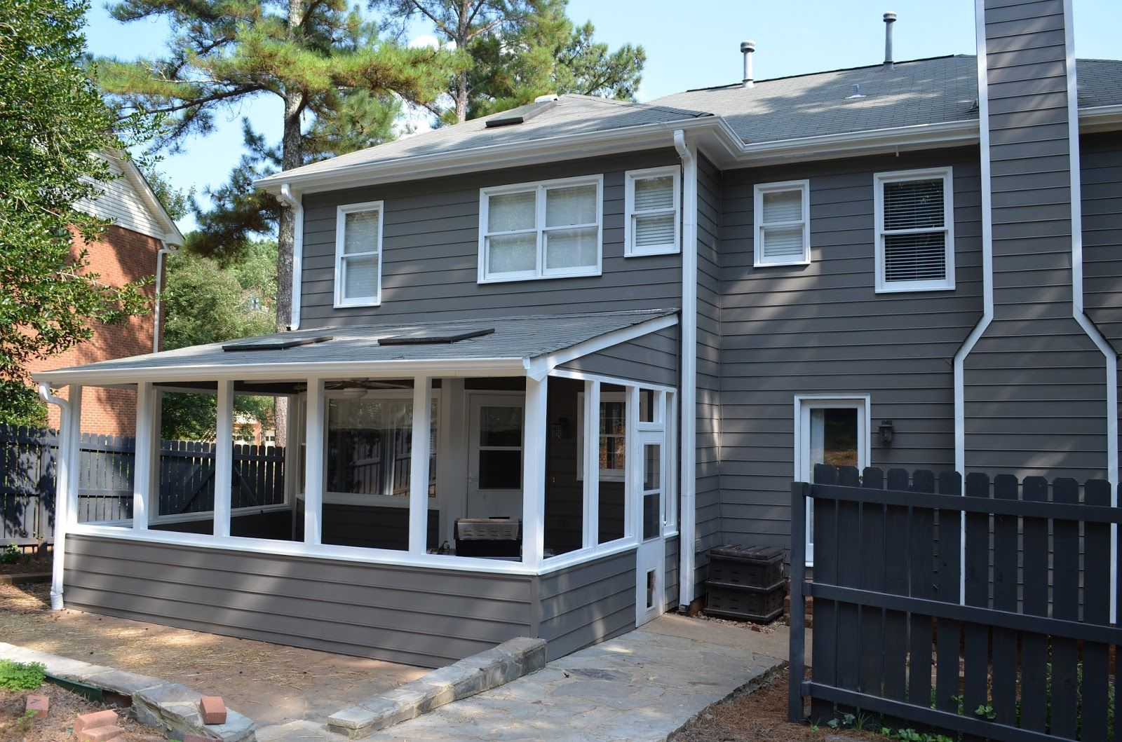 Sherwin Williams Gauntlet Gray Exterior Google Search Around The House Pinterest