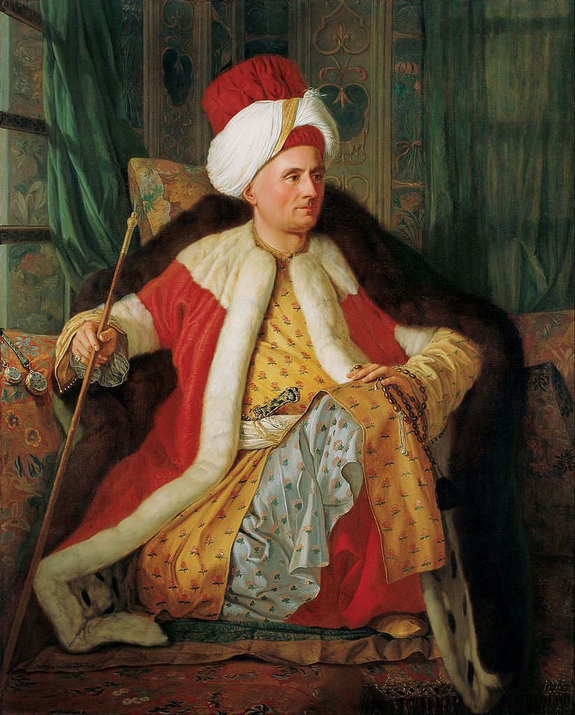 Antoine de Favray (French, 1706-1791). Portrait of Charles Gravier Count of Vergennes and French Ambassador, in Turkish Attire, 2nd half 18th century. Pera Museum, Istanbul