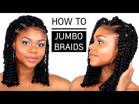 Cheveux afro et crépus | How to Jumbo Box Braids Bob (tuto coiffure simple) Braids africaines car