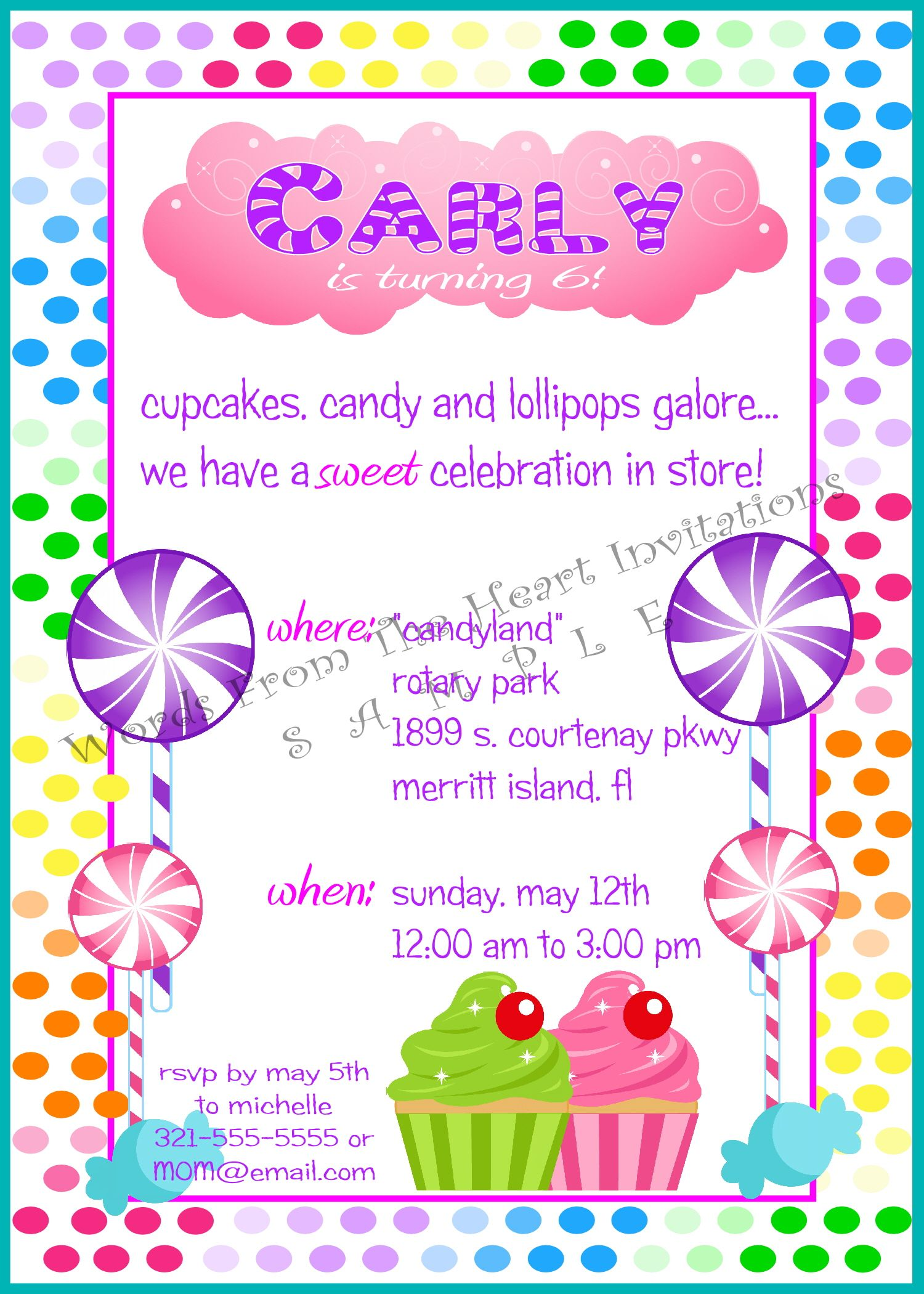 A Sweet Invitation for a Sweet Candy theme Birthday Party ...