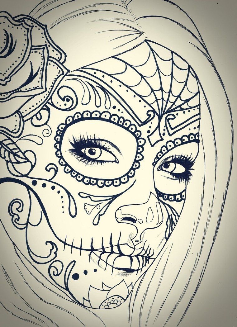 50++ Day of the dead girl coloring pages information
