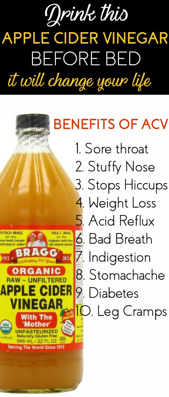 Drink Apple Cider Vinegar Before Bed It Will Change Your Life For