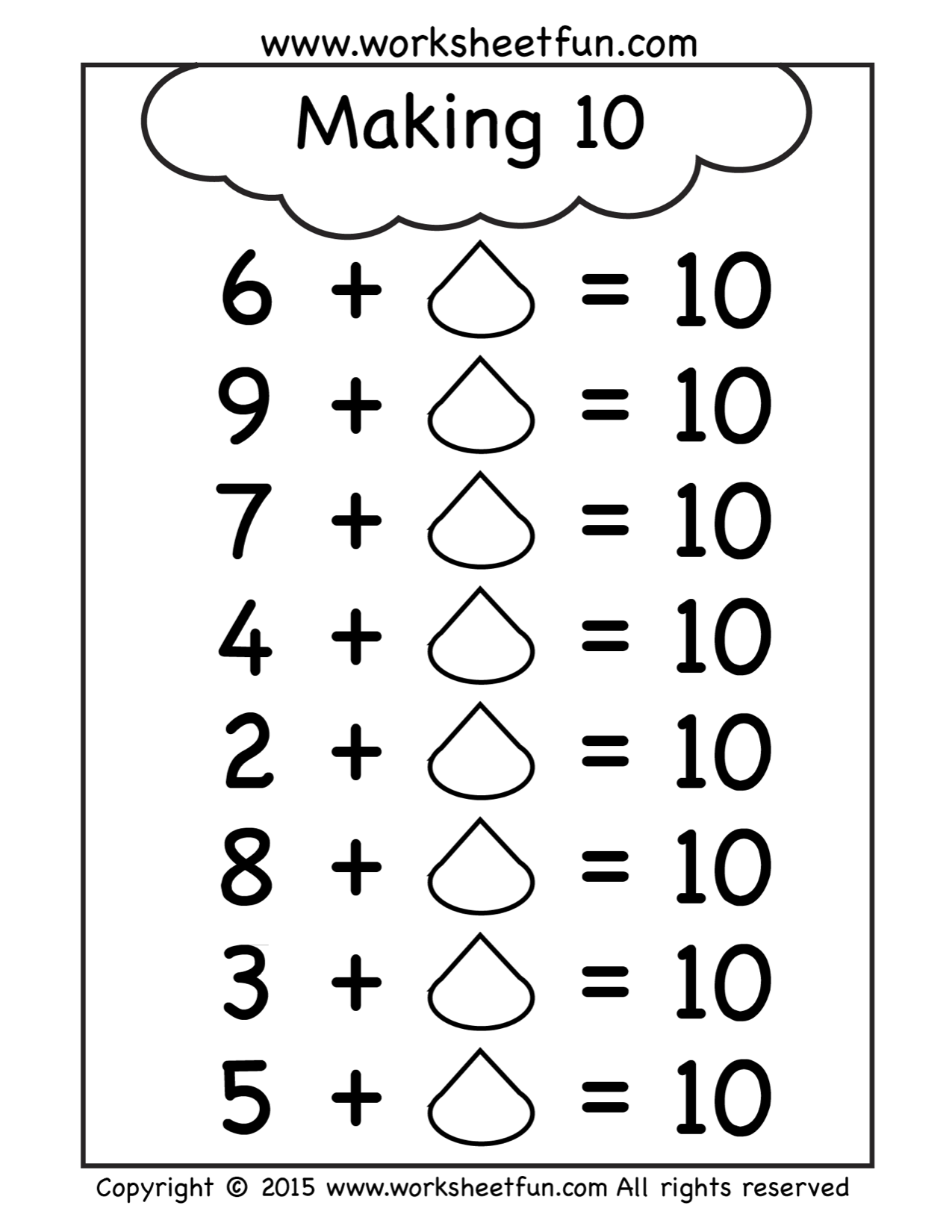 Free Making Ten Worksheet | Math | Pinterest | Worksheets, Maths and ...