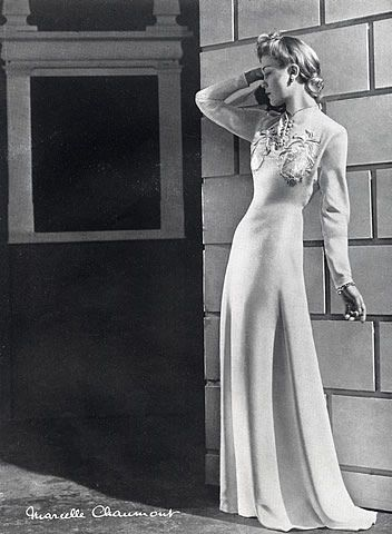 Marcelle Chaumont 1940 Evening Gown, Fashion Photography