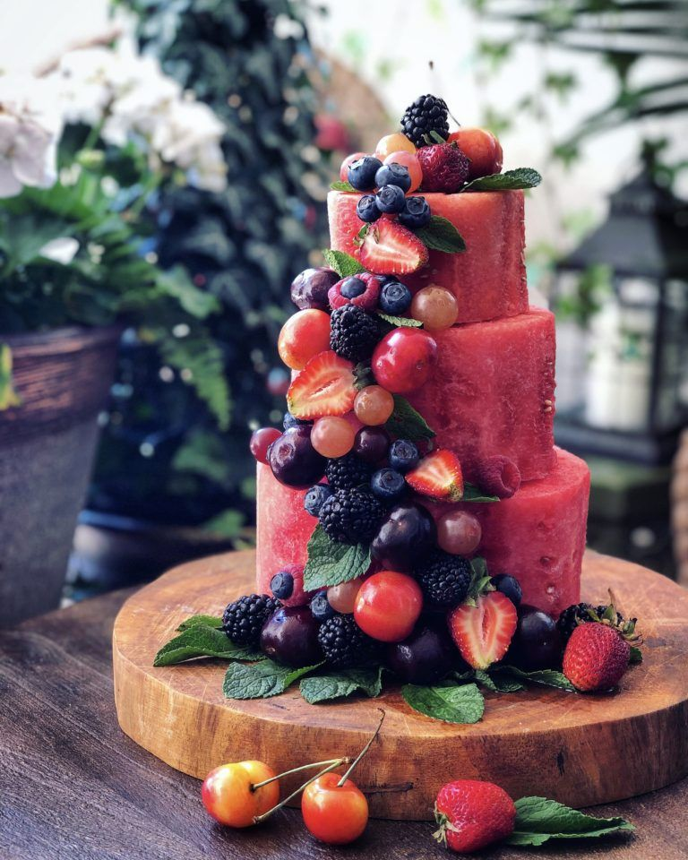 Summertime watermelon cake with images watermelon cake