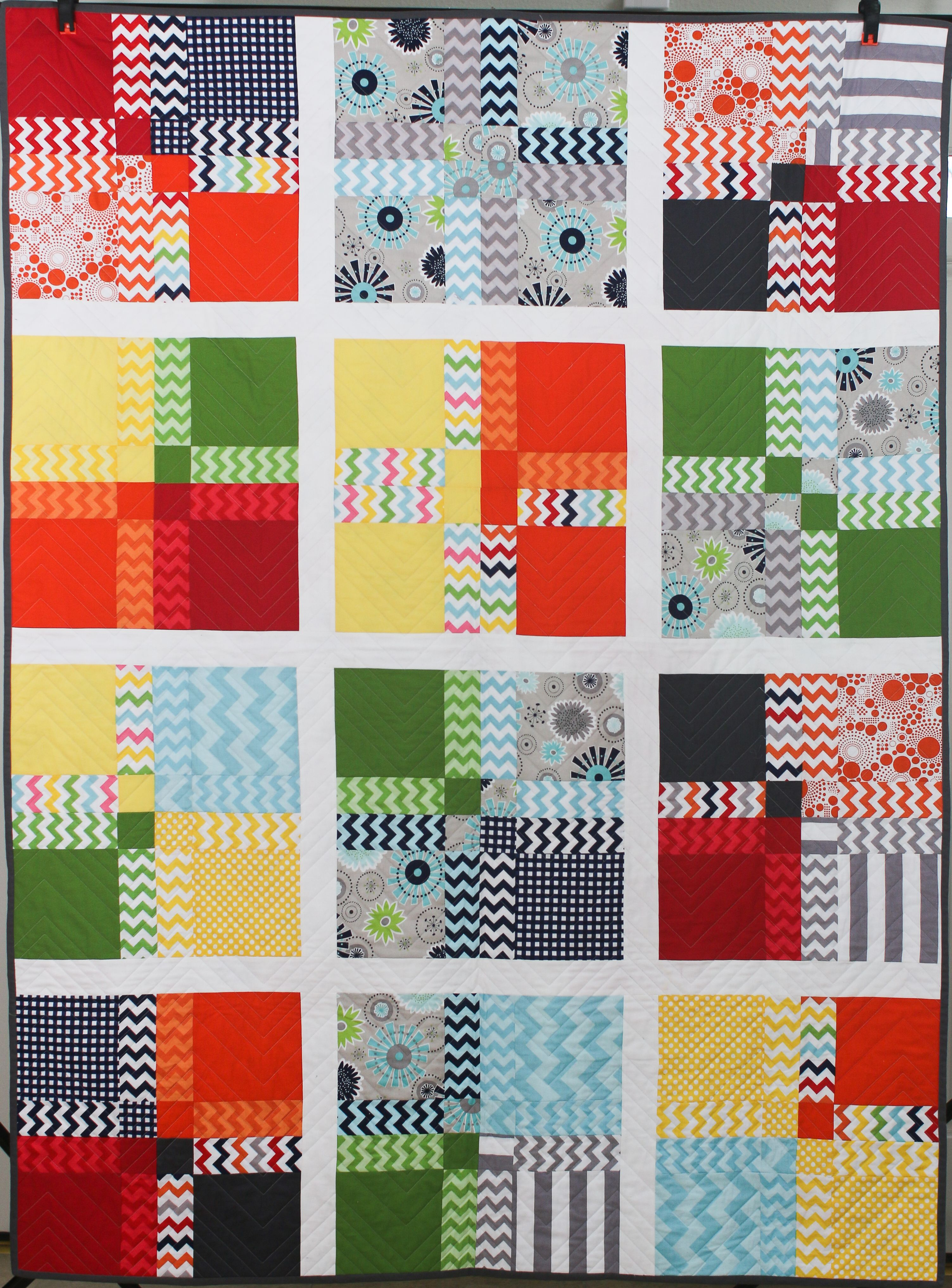 """""""Blocky"""", 2014 Riley Blake Challenge, MQG (Modern Quilt Guild)"""