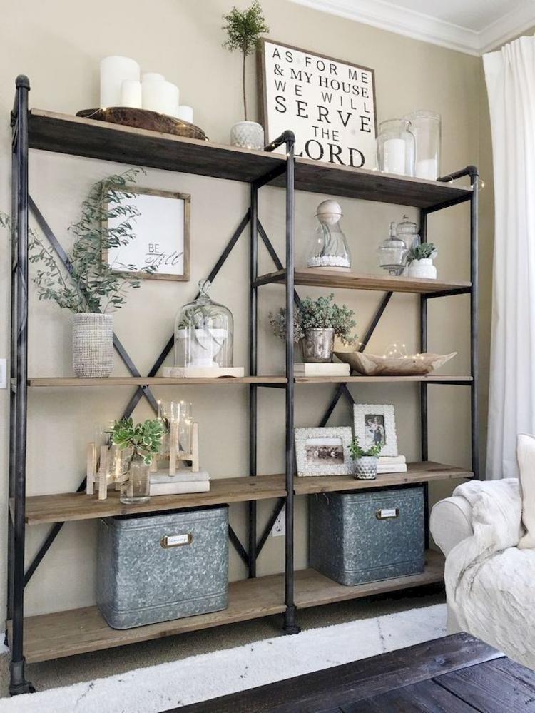 50+ Majestic Farmhouse Rustic Living Room Design Ideas #livingroom ...