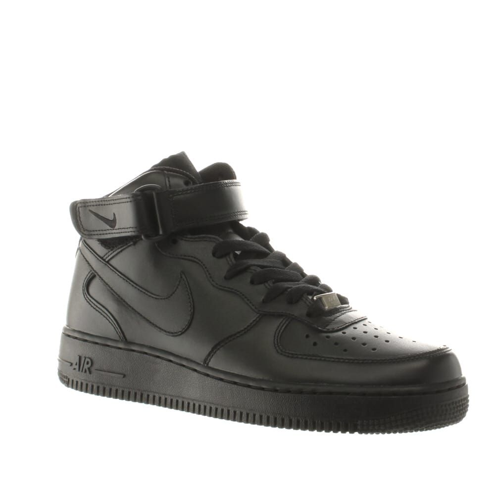 reputable site 17091 f6a71 Men s Black Nike Air Force 1 Mid Trainers   schuh