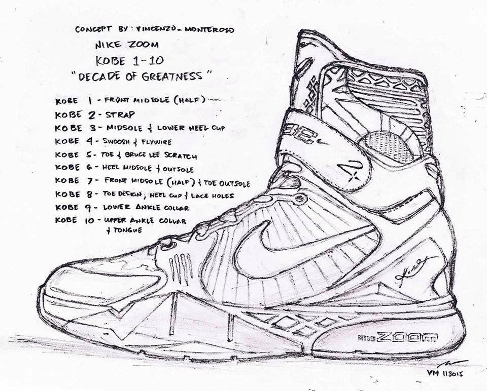 fc4c18e6d3a The ultimate Kobe Nike | draw | Sneakers sketch, Shoe tattoos ...